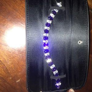Beautiful purple costume jewelry bracelet